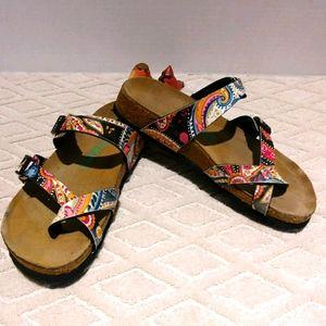 Girls Viking comfort cork footbed sandals
